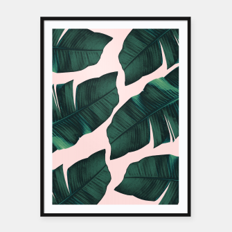 Thumbnail image of Tropical Blush Banana Leaves Vibes #2 #decor #art  Plakat mit rahmen, Live Heroes