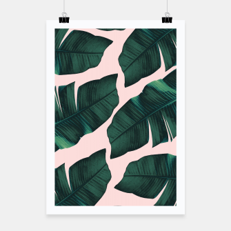 Thumbnail image of Tropical Blush Banana Leaves Vibes #2 #decor #art  Plakat, Live Heroes
