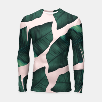 Thumbnail image of Tropical Blush Banana Leaves Vibes #2 #decor #art  Longsleeve rashguard, Live Heroes