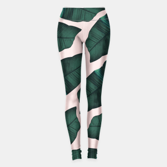 Thumbnail image of Tropical Blush Banana Leaves Vibes #2 #decor #art  Leggings, Live Heroes