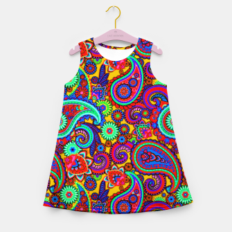 Miniatur PAISLEY 3 Girl's summer dress, Live Heroes