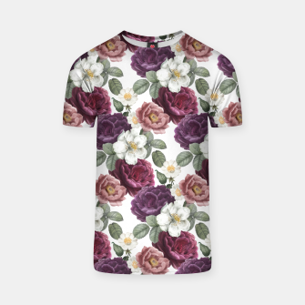 Thumbnail image of flower vintage pattern T-shirt, Live Heroes