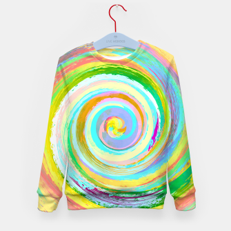 Spiral and colors Enfantin sweatshirt Bild der Miniatur