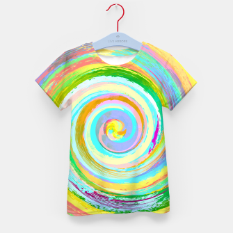 Spiral and colors Enfantin t-shirt Bild der Miniatur