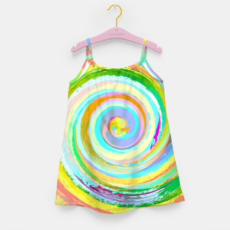 Spiral and colors Robe de fille Bild der Miniatur