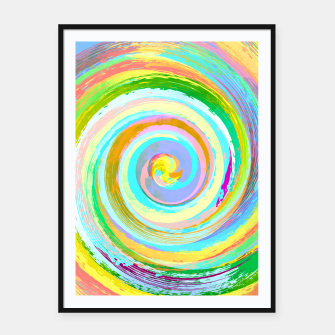 Miniatur Spiral and colors Affiche et cadre, Live Heroes