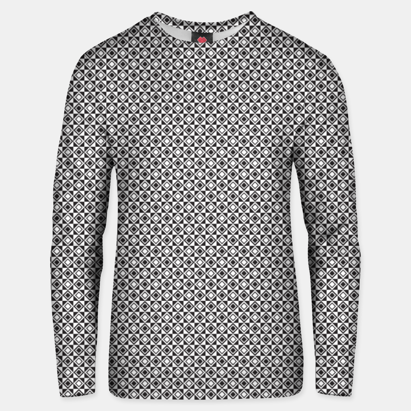 Zdjęcie Checkered Shapes Pattern I Unisex sweater - Live Heroes