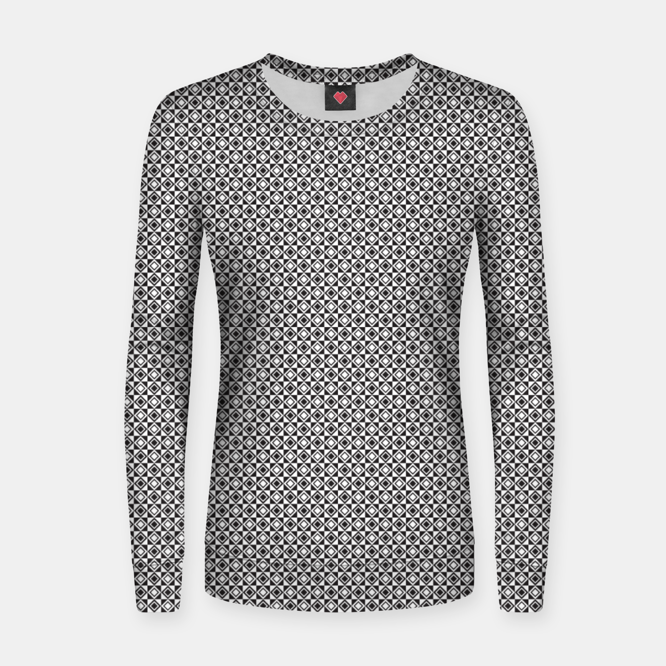 Zdjęcie Checkered Shapes Pattern I Women sweater - Live Heroes