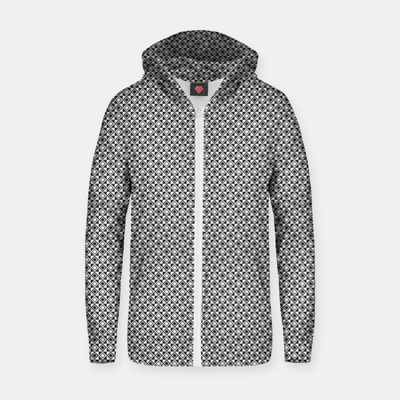 Zdjęcie Checkered Shapes Pattern I Zip up hoodie - Live Heroes