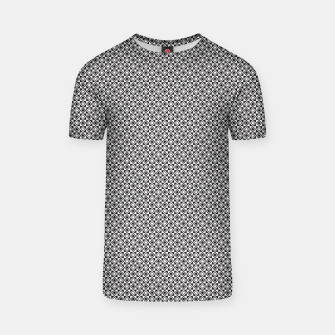 Checkered Shapes Pattern I T-shirt obraz miniatury