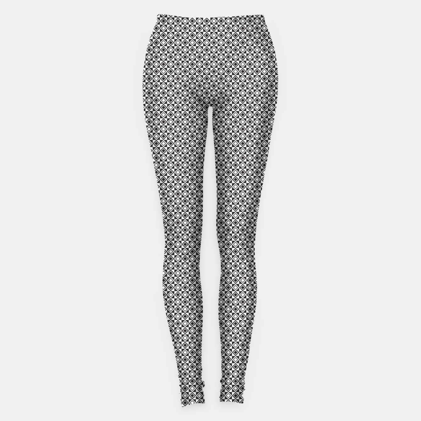 Zdjęcie Checkered Shapes Pattern I Leggings - Live Heroes