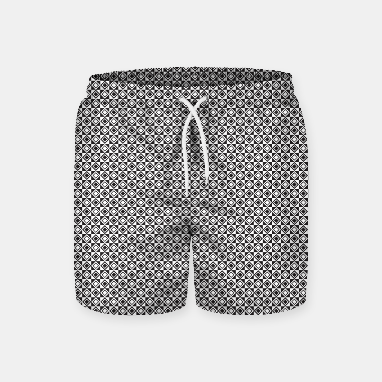 Zdjęcie Checkered Shapes Pattern I Swim Shorts - Live Heroes