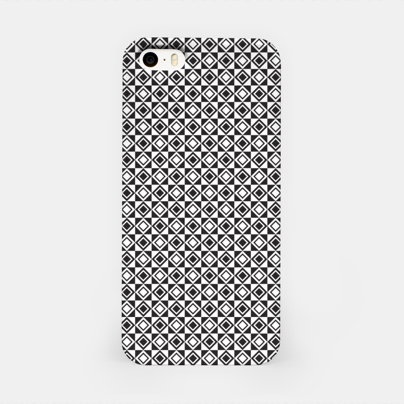 Zdjęcie Checkered Shapes Pattern I iPhone Case - Live Heroes