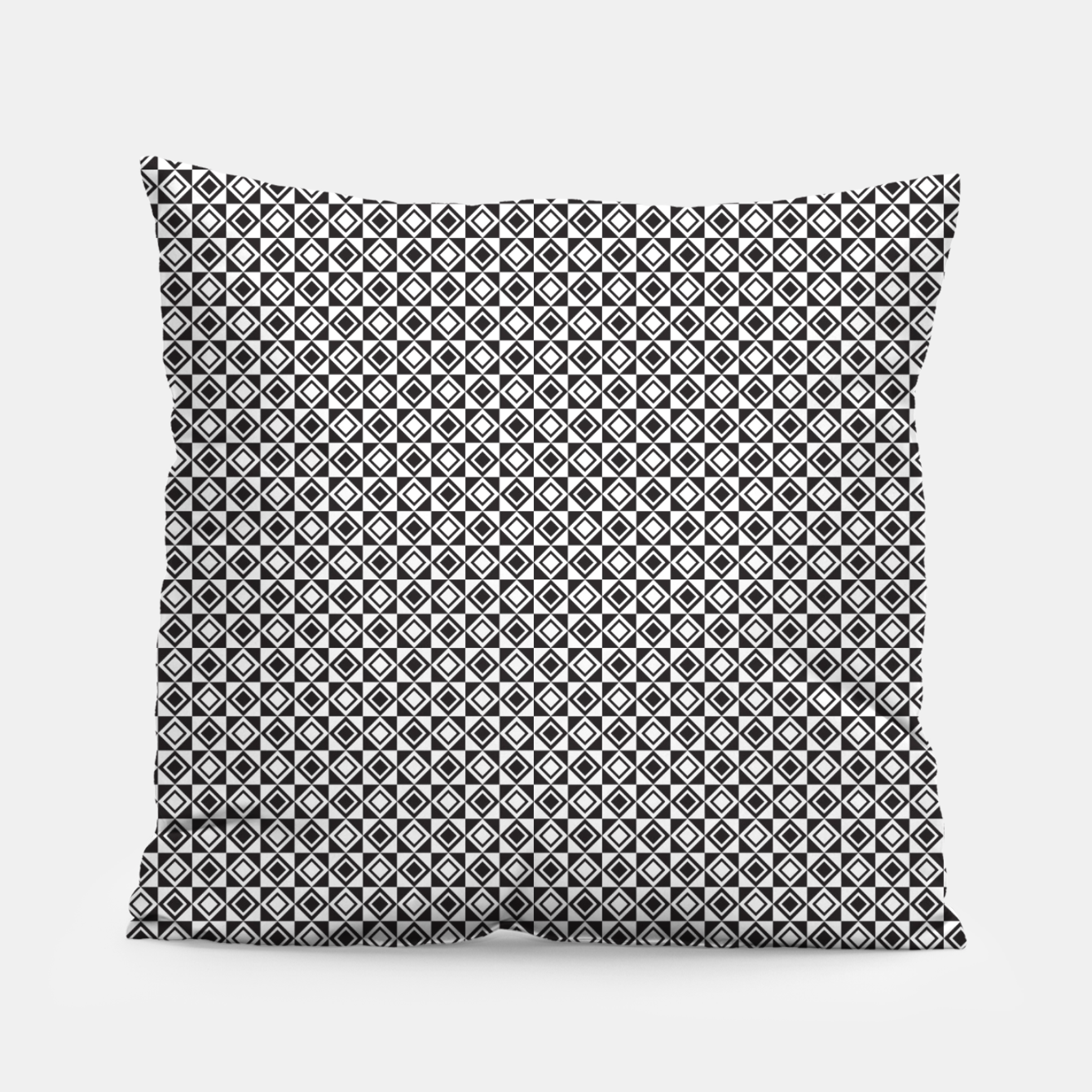 Zdjęcie Checkered Shapes Pattern I Pillow - Live Heroes