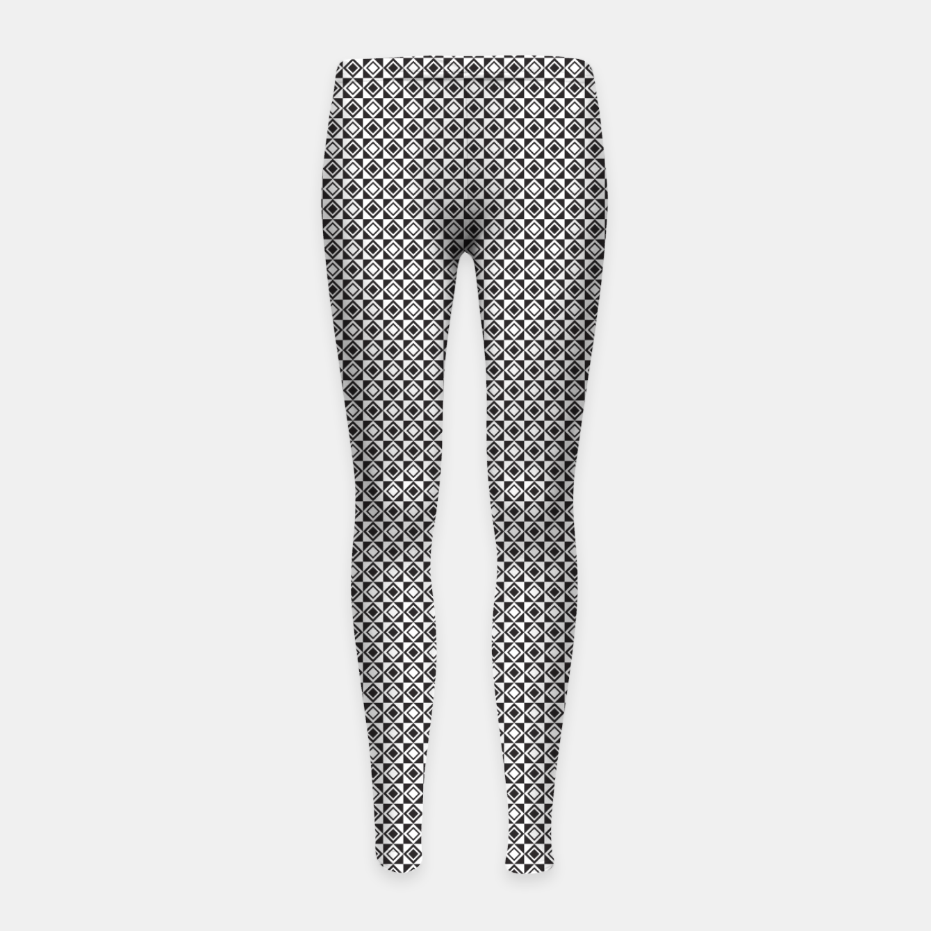 Zdjęcie Checkered Shapes Pattern I Girl's leggings - Live Heroes