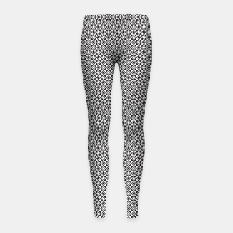 Checkered Shapes Pattern I Girl's leggings obraz miniatury