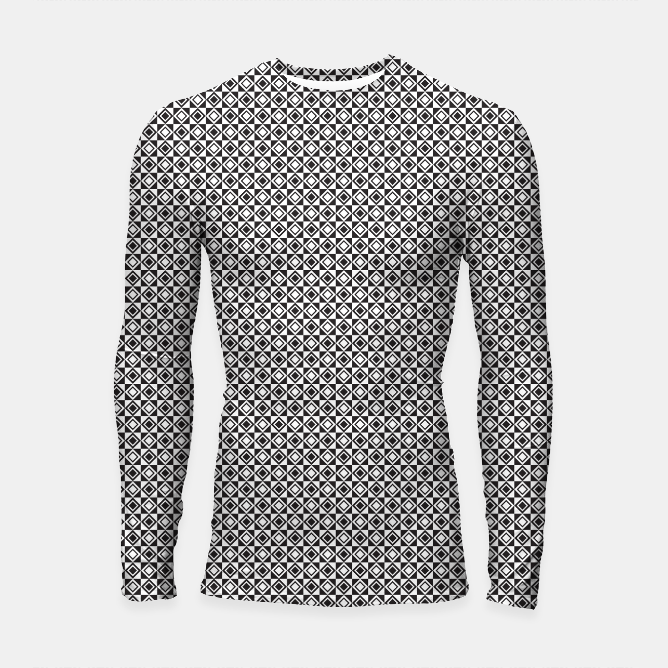 Zdjęcie Checkered Shapes Pattern I Longsleeve rashguard  - Live Heroes