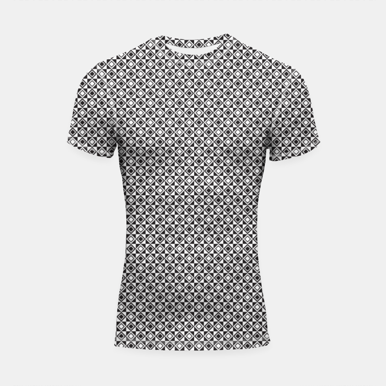 Zdjęcie Checkered Shapes Pattern I Shortsleeve rashguard - Live Heroes