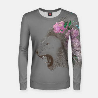Thumbnail image of Floral Lion Women sweater, Live Heroes