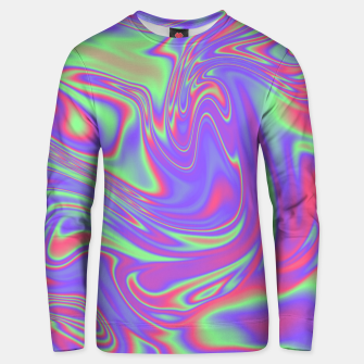 Thumbnail image of Liquid iridescent rainbow texture Unisex sweater, Live Heroes