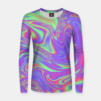 Thumbnail image of Liquid iridescent rainbow texture Women sweater, Live Heroes