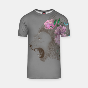 Thumbnail image of Floral Lion T-shirt, Live Heroes