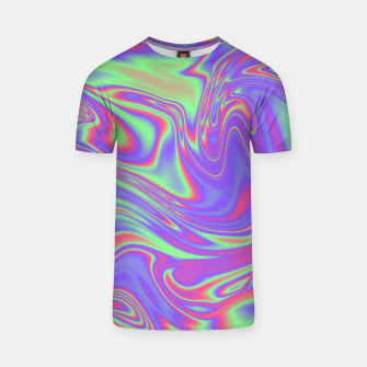 Thumbnail image of Liquid iridescent rainbow texture T-shirt, Live Heroes
