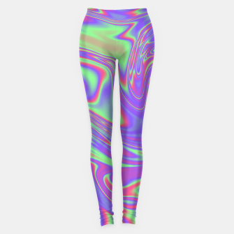 Thumbnail image of Liquid iridescent rainbow texture Leggings, Live Heroes