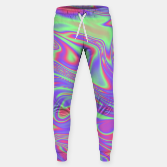 Thumbnail image of Liquid iridescent rainbow texture Sweatpants, Live Heroes