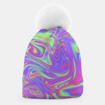 Thumbnail image of Liquid iridescent rainbow texture Beanie, Live Heroes