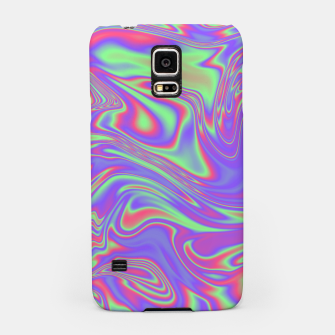 Thumbnail image of Liquid iridescent rainbow texture Samsung Case, Live Heroes