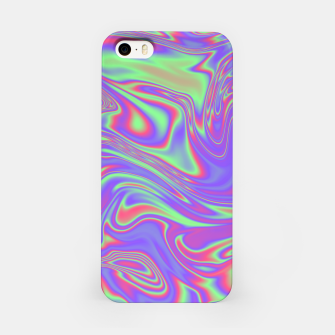 Thumbnail image of Liquid iridescent rainbow texture iPhone Case, Live Heroes