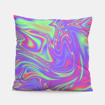 Thumbnail image of Liquid iridescent rainbow texture Pillow, Live Heroes