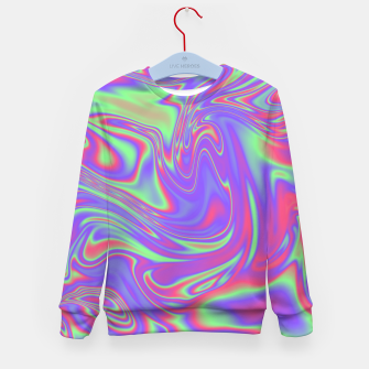 Thumbnail image of Liquid iridescent rainbow texture Kid's sweater, Live Heroes