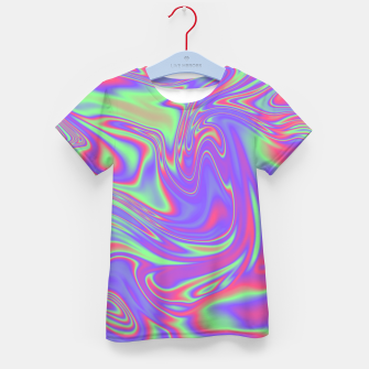 Thumbnail image of Liquid iridescent rainbow texture Kid's t-shirt, Live Heroes