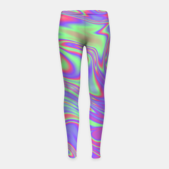 Thumbnail image of Liquid iridescent rainbow texture Girl's leggings, Live Heroes