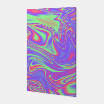 Thumbnail image of Liquid iridescent rainbow texture Canvas, Live Heroes