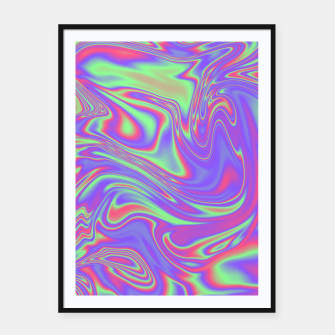 Thumbnail image of Liquid iridescent rainbow texture Framed poster, Live Heroes