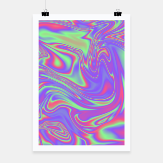 Thumbnail image of Liquid iridescent rainbow texture Poster, Live Heroes
