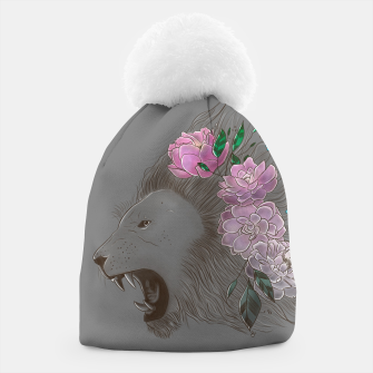 Thumbnail image of Floral Lion Beanie, Live Heroes