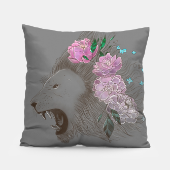 Thumbnail image of Floral Lion Pillow, Live Heroes