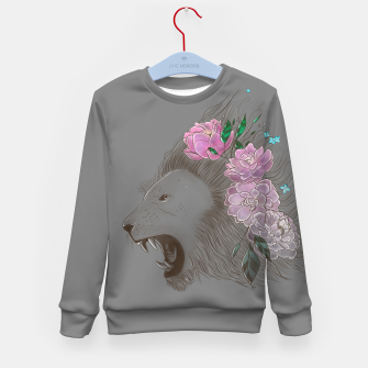 Miniatur Floral Lion Kid's sweater, Live Heroes