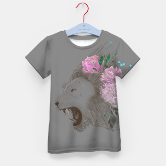Thumbnail image of Floral Lion Kid's t-shirt, Live Heroes