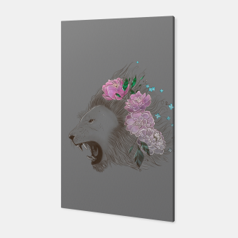 Thumbnail image of Floral Lion Canvas, Live Heroes
