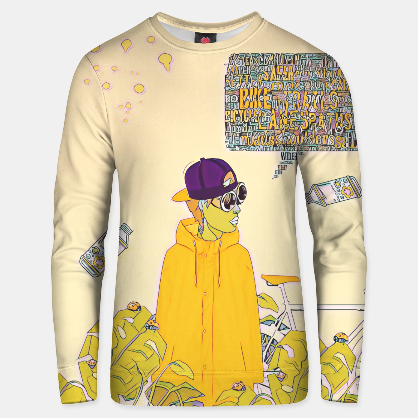 Image of Floral bike Unisex sweater - Live Heroes