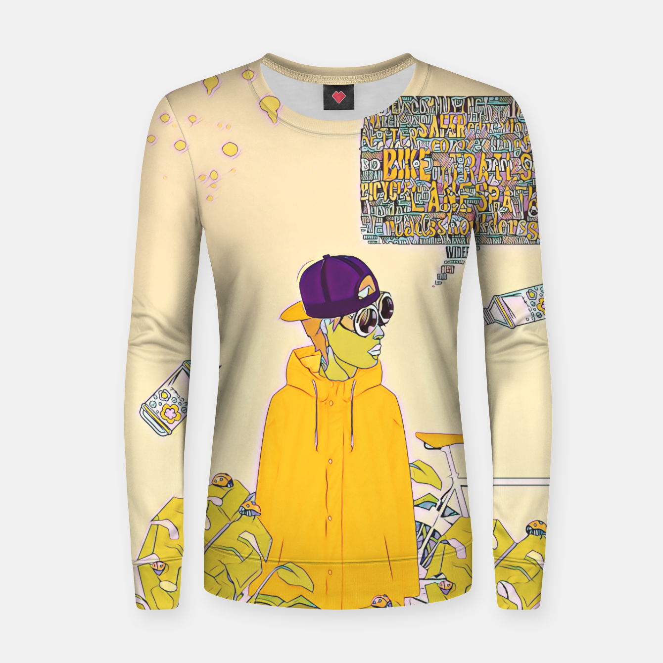 Image of Floral bike Women sweater - Live Heroes