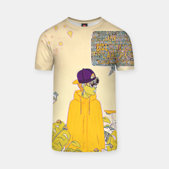 Thumbnail image of Floral bike T-shirt, Live Heroes