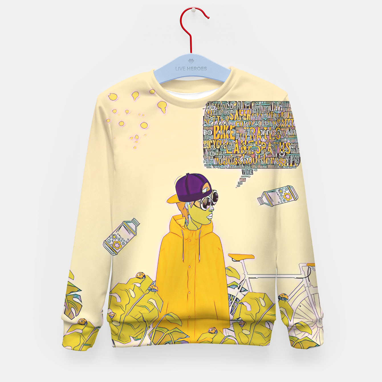 Image of Floral bike Kid's sweater - Live Heroes
