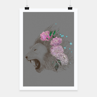 Thumbnail image of Floral Lion Poster, Live Heroes