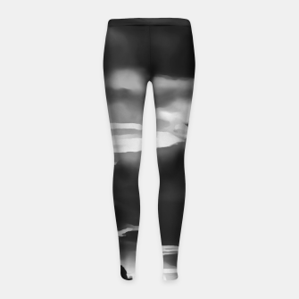 Thumbnail image of cloudy burning sky reacbw Girl's leggings, Live Heroes